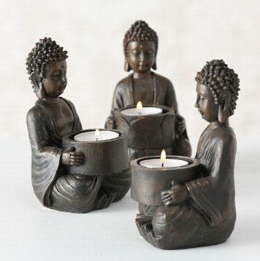 Candlelightholder Buddha A
