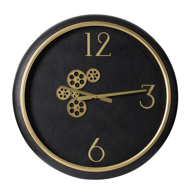 leather clock