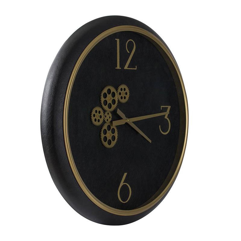 leather clock