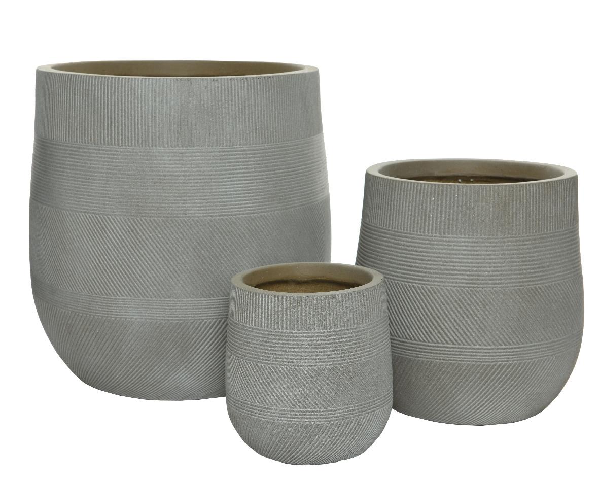 planter round stripe